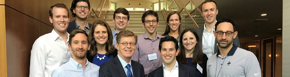 Duke President Vincent E. Price with Young Alumni Development Council members