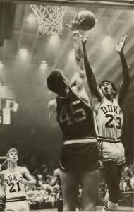 C.B. Claiborne playing basketball